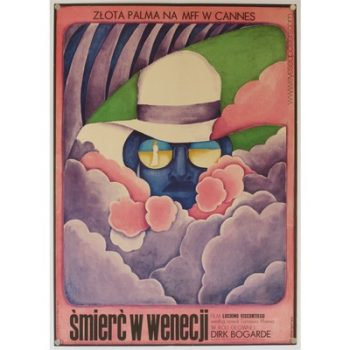 Original polish film poster 'Smierc W Wenecji' (Death in Venice). Poster design by: Maria Ihnatowicz, 1971