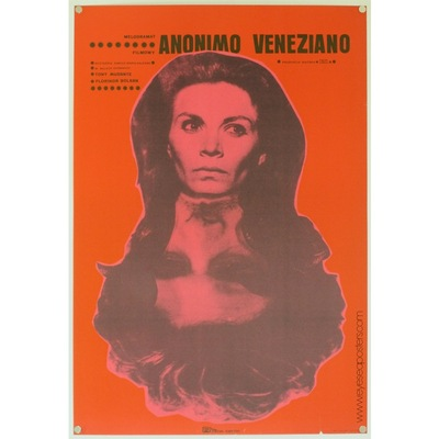 Original polish film poster for Italian film 'Anonimo Veneziano' (The Anonymous Venetian). Poster design by: Ryszard Kiwerski, 1972