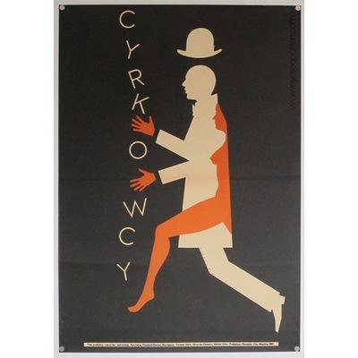 Original polish film poster 'Cyrkowcy'. Poster design by: Mieczyslaw Wasilewski, 1982