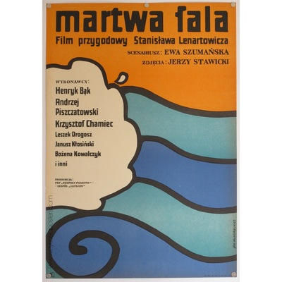 Original polish film poster 'Martwa fala'. Poster Design by: Jan Mlodozeniec, 1970