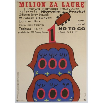Original polish film poster 'Milion Za Laure' (Million for Laura). Poster design by: Jerzy Flisak, 1971.