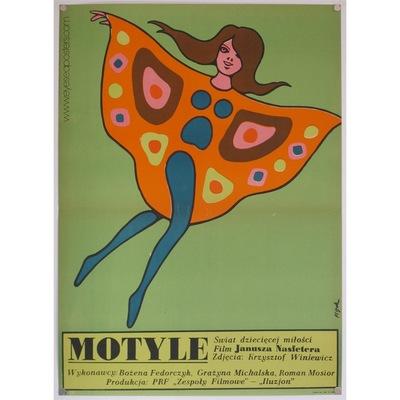 "Original Polish film poster ""Motyle"" (Butterflies). Poster deisgn by: Jerzy Flisak, 1973"