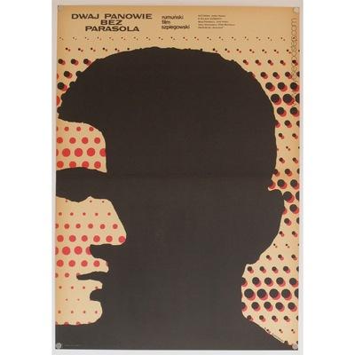 Original Polish film poster 'Dwaj Panowie Bez Parasola'. Poster design by: Mieczyslaw Wasilewski, 1970.