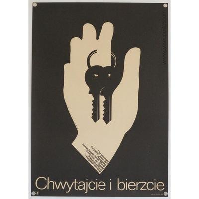 Original polish film poster, Chwytajcie I Bierzcie, Mieczyslaw Wasilewski, 1979